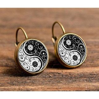 Image of Alloy Yin and Yang Earring