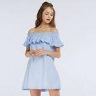 Frilled Off-Shoulder Shift Dress 1596