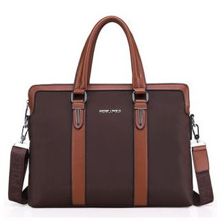 Faux Leather Trim Tote 1047047978