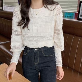Long-sleeve | Lace | Top