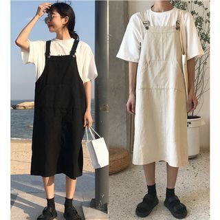 Midi Pinafore Dress 1066236897