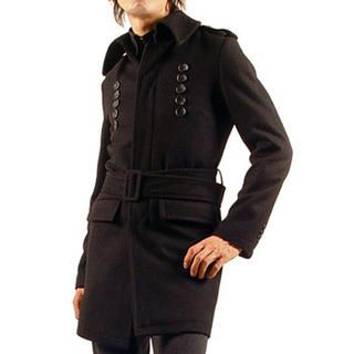 Buy Purplow Fly Front Belted Coat 1005162794