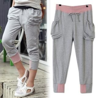 Picture of Alice Room Cropped Sweatpants 1022424562 (Womens Cropped Pants, Womens Sweatpants, Alice Room Pants, South Korea Pants)