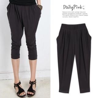 Buy Daily Pink Cropped Jersey Baggy Pants 1023039600