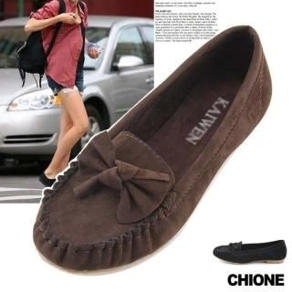 Buy Chione Bow-Accent Moccasins 1021467994