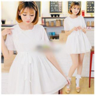 Short-Sleeve Chinese Frog Button Dress 1596