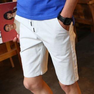 Plain Drawstring Shorts 1065690112