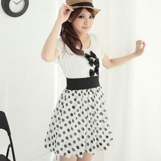 """Buy CatWorld Mock Two Piece """"Bow"""" Dress 1022923034"""