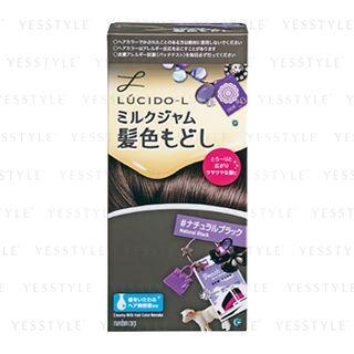 Mandom - Lucido-L Creamy Milk Hair Color (Natural Black) 1 set 1058069414