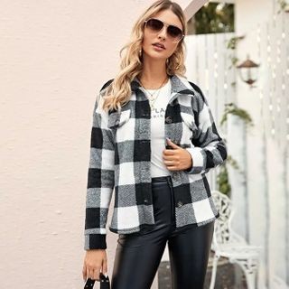 Image of Check Button Jacket