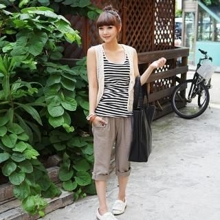 Picture of SDKING Cropped Linen Pants 1022982247 (SDKING Apparel, Womens Pants, South Korea Apparel)