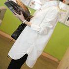 Plain Linen Shirt White - S от YesStyle.com INT