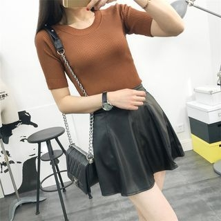 Short-Sleeve Knit Top 1056918220