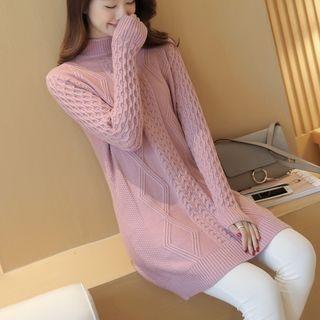 Ribbed Long-Sleeve Knit Top 1061495438