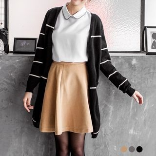 Angora Wool-Blend Flare Skirt