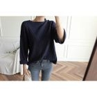 Round-Neck Ribbed Knit Top 1596