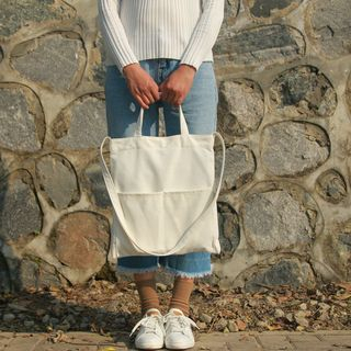 Canvas Tote with Shoulder Strap 1063351751