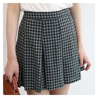 Plaid Pleated Mini Skirt 1060854820