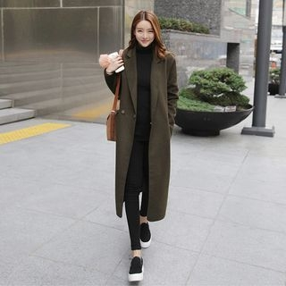 Notched Lapel Coat 1062567096