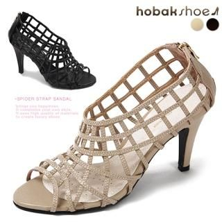 Buy HOBAK girls Genuine Leather Cage Pumps 1022595615