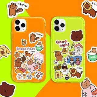 Image of Bear Print Phone Case - iPhone 11 Pro Max / 11 Pro / 11 / XS Max / XS / XR / X