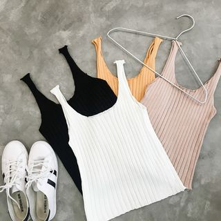 Ribbed Knit Tank Top 1049990789