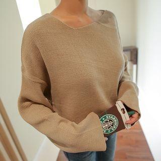 Drop-Shoulder Knit Top 1053025978