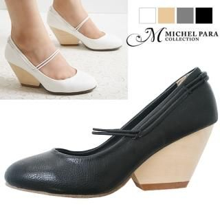 Picture of MICHEL PARA COLLECTION Round-Toe Pumps 1023059410 (Pump Shoes, MICHEL PARA COLLECTION Shoes, Korea Shoes, Womens Shoes, Womens Pump Shoes)