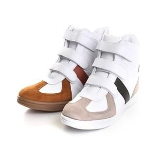 Picture of ISNOM High Top Velcro Sneakers 1022446252 (Sneakers, ISNOM Shoes, Korea Shoes, Mens Shoes, Mens Sneakers)