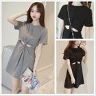 Cutout Short-Sleeve Dress 1596