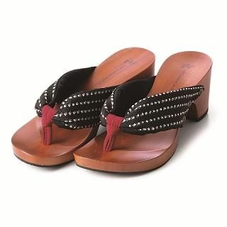 Picture of Mizutori High-Heeled Wood Sandals 1019588105 (Sandals, Mizutori Shoes, Japan Shoes, Womens Shoes, Womens Sandals)