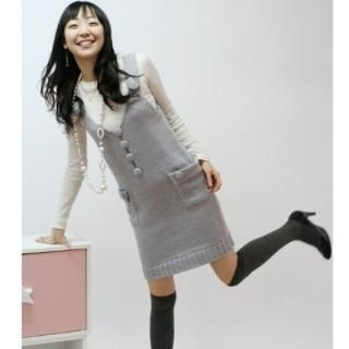 Buy CLICK Button-Front Knit Jumper Dress 1022170659