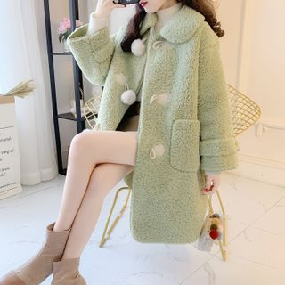Image of Faux Shearling Long Coat