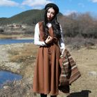Sleeveless A-Line Midi Dress 1596