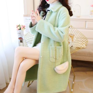 Image of Floral Faux Pearl Coat
