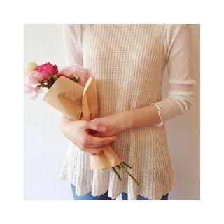 Sleeveless Ribbed Knit Top 1059551895