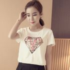 Sequined Short-Sleeve T-shirt 1596