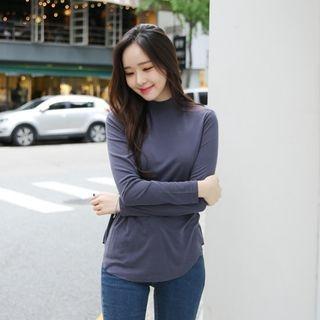 Mock-Neck Long-Sleeve T-Shirt 1053025920