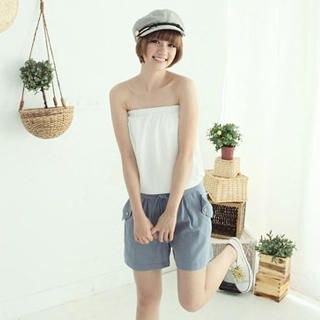Picture of CatWorld Strapless Drawstring Panel Playsuit 1023065362 (Womens Drawstring Pants, CatWorld Pants, Taiwan Pants)