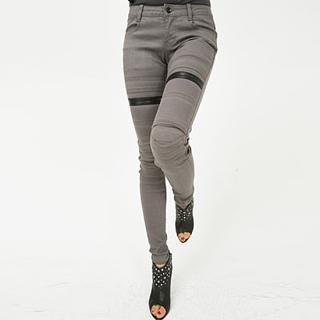 Buy BBon-J Faux Leather Trim Skinny Jeans 1022253891