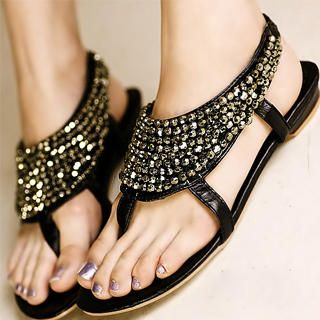 Buy Kvoll Beaded Thong Sandals 1023070403