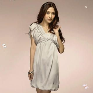 Buy Tokyo Fashion Ruffle-Sleeve Satin Dress 1022550164