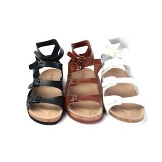 Buy moscod Genuine Leather Buckled Sandals 1022950677