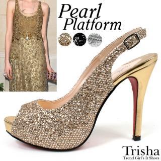 Buy Trisha Metallic Platform Stilettos 1022771014
