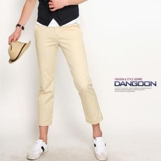 Picture of DANGOON Cropped Slim-Fit Pants 1022752939 (DANGOON, Mens Pants, Korea)