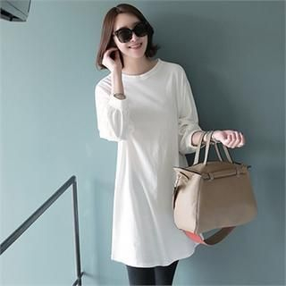 Puff-Sleeve T-Shirt Dress