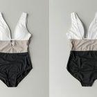 Cutout-Detail Color-Block Swimsuit 1596