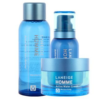 Laneige - Homme Active Water Triple Set : Skin Refiner 150ml + Emulsion 125ml + Cream 50ml 1038505430
