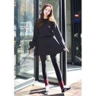 Long-Sleeved Mini Sweater Dress 1596