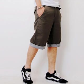 Buy SLOWTOWN Cuffed Bermuda Shorts 1022963134